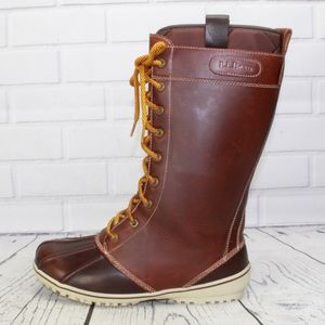 NEW LL Bean Bar Harbor Brown Leather Boots Size 7